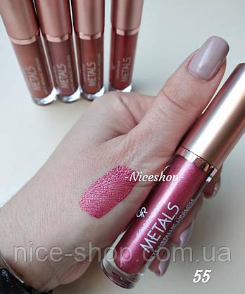 Помада Golden Rose Metals Matte Metallic Lipgloss №55, фото 2