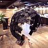 Обруч для волос широкий чёрный ободок чалма, фото 7