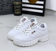 Кроссовки женские белые Fila , фото 1