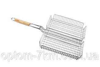 Решітка нержавіюча прямокутна для гриля, барбекю 440*330*60 мм EM-0102