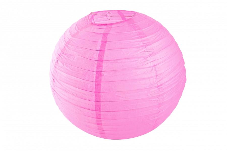 Бумажный подвесной шар малиновый, 25 см