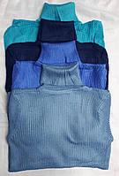 Гольф женский Рубчик Кашемир норма 42-46. Синие