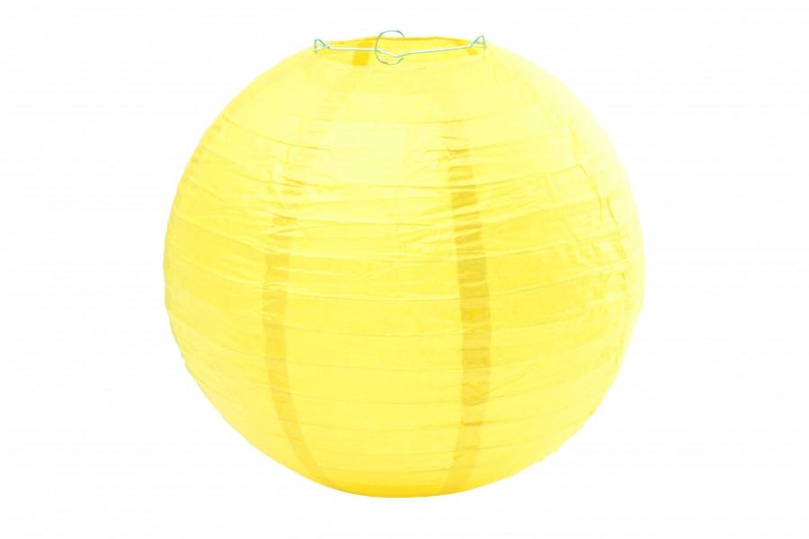 Бумажный подвесной шар желтый, 25 см
