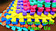 """Мягкий пол (Коврик-пазл 30 * 30 * 1см)"""" ВЕСЕЛКА"""" разноцветный., фото 7"""