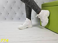 Хайтопы сникерсы демисезоннные белые фила, фото 1