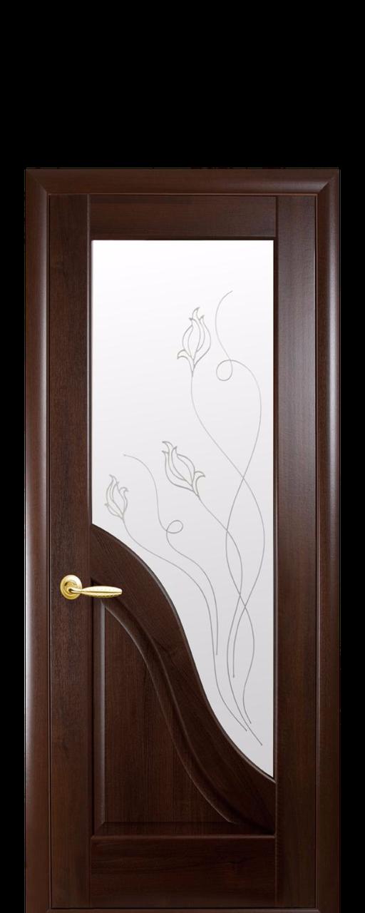 Дверь межкомнатная Новый стиль Амата  (Каштан)