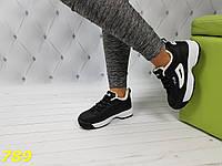 Кроссовки фила зима черные на белой подошве, фото 1