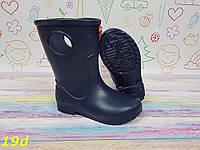 Детские резиновые сапоги непромокаемые темно-синие, фото 1