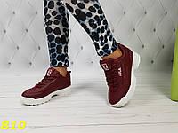 Кроссовки на массивной подошве Фила марсала бордо, фото 1