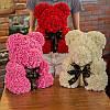 Мишка из роз в Подарочной упаковке (коробке), Белый, 40 см, фото 6