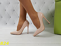 Лодочки туфли пудровые классика, фото 1
