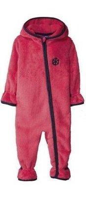 Флисовый комбинезон, поддева для девочки розовый 62/68см