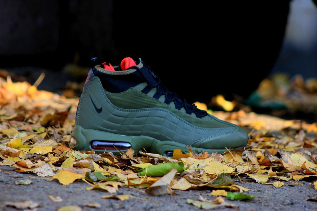 630237f0 Купить Зимние кроссовки Nike Air Max 95 Sneakerboot (зеленые) в ...