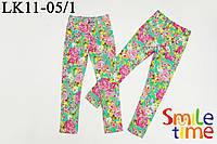 Брюки-скинни для девочки коттон р.128,134,140,146 SmileTime Sweet Dream, цветочные