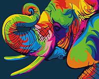 """Картина по номерам """"Радужный слон"""""""