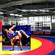 Покрытие (покрышка) ПВХ для борцовских и гимнастических матов в спортзалах трехцветная., фото 5