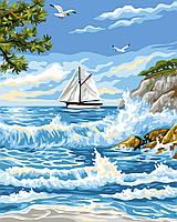 "Картина по номерам ""Прибой у острова"""