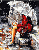 """Картина по номерам """"Одиночество в красном"""", фото 1"""