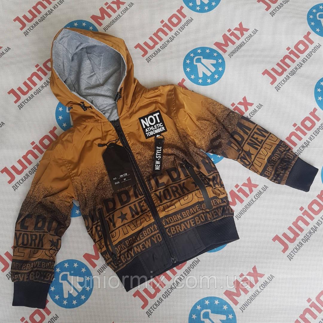 Детская двусторонняя  весенняя куртка для мальчиков оптом BIMBO STYLE