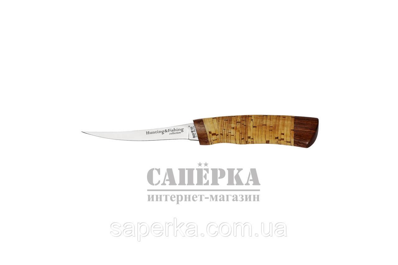 Нож Рыбацкий-Филейный Grandway 2249 BLP. Рукоять - береста