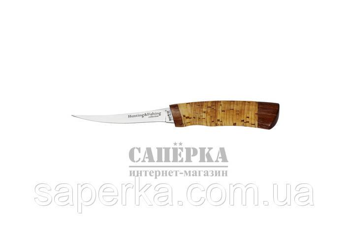 Нож Рыбацкий-Филейный Grandway 2249 BLP. Рукоять - береста, фото 2