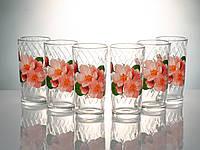 """Набор стаканов 230 мл """"Классик"""" цветы 6 шт."""
