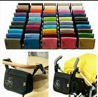 Сумка для детской коляски OK style универсальное крепление на коляску органайзер для мамы Польша з