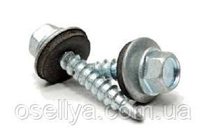 Саморізи по металу з резиновою прокладкою оцинкований 4,8х19