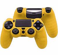 Силиконовый чехол Game Teh X Geeg для PS4 Желтый (Арт. 10431)