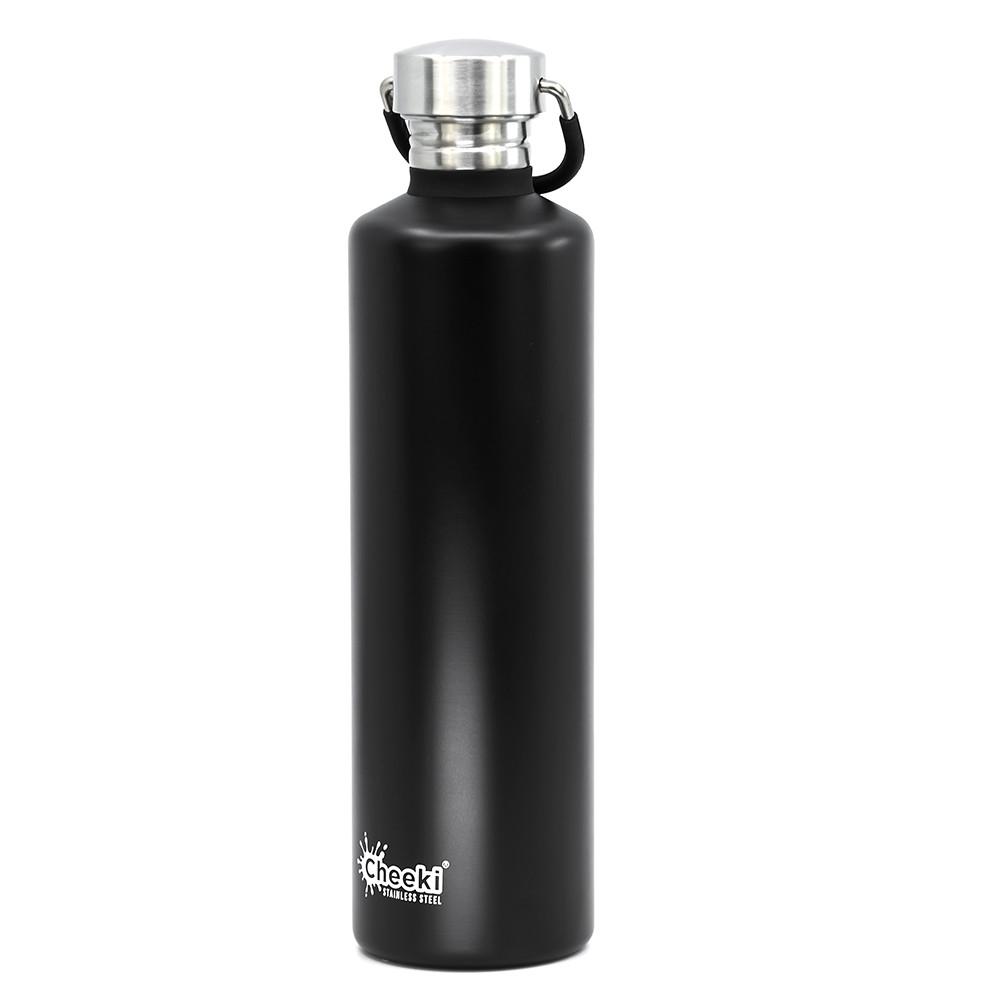 "Бутылка для воды ""Classic Single Wall"" 7.6х28.5см/1000мл из нержавеющей стали Cheeki"