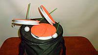 Набор жерлица 10 штук летняя оснащеннная в сборе диаметр 150мм в сумке, фото 1