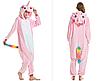 Пижама единорог взрослая кигуруми розвый S, фото 2