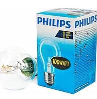 Лампа Philips А55 100W Е-27 прозора