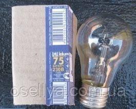 Лампа Іскра Е-27 75W прозора