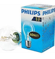 Лампа Philips А55 60W Е-27 прозора