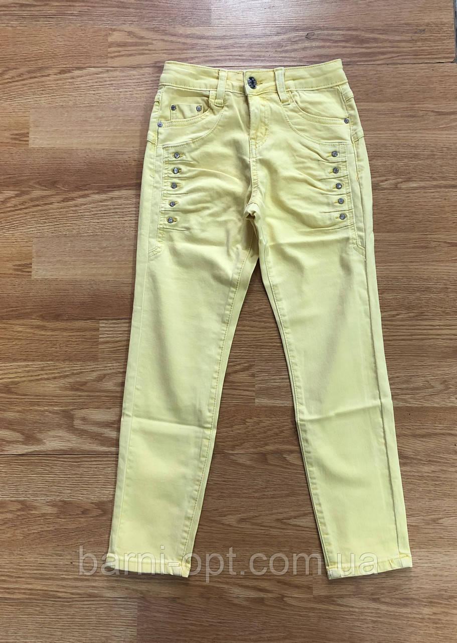 Стрейчевые джинсовые брюки на девочек оптом, F&D, 8-16 рр