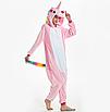 Пижама единорог взрослая кигуруми розвый S, фото 3