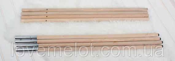 Деревянные палки для Вигвама, палки для палатки детской, сборные палки для шалаша, комплект 4 шт