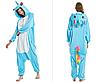 Пижама единорог взрослая кигуруми голубой M, фото 2