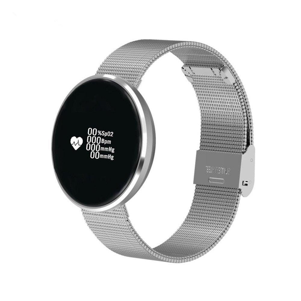 Часы фитнес трекер, пульсометр, тонометр в алюминиевом корпусе.
