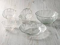 Набор 6 предметный (блюдо, салатник, пиалы) стеклянный., фото 1