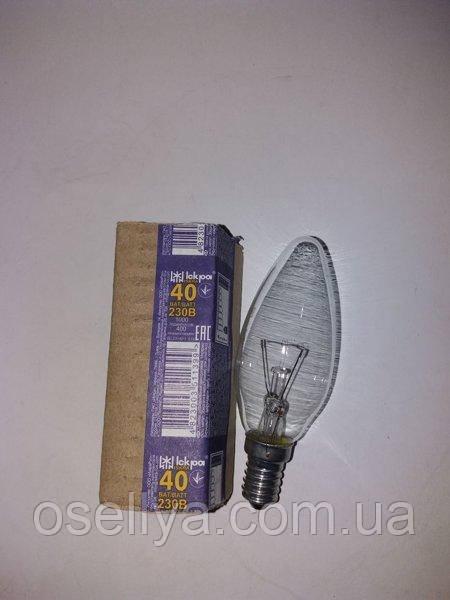 Лампа Іскра свічка Е-14 40W прозора
