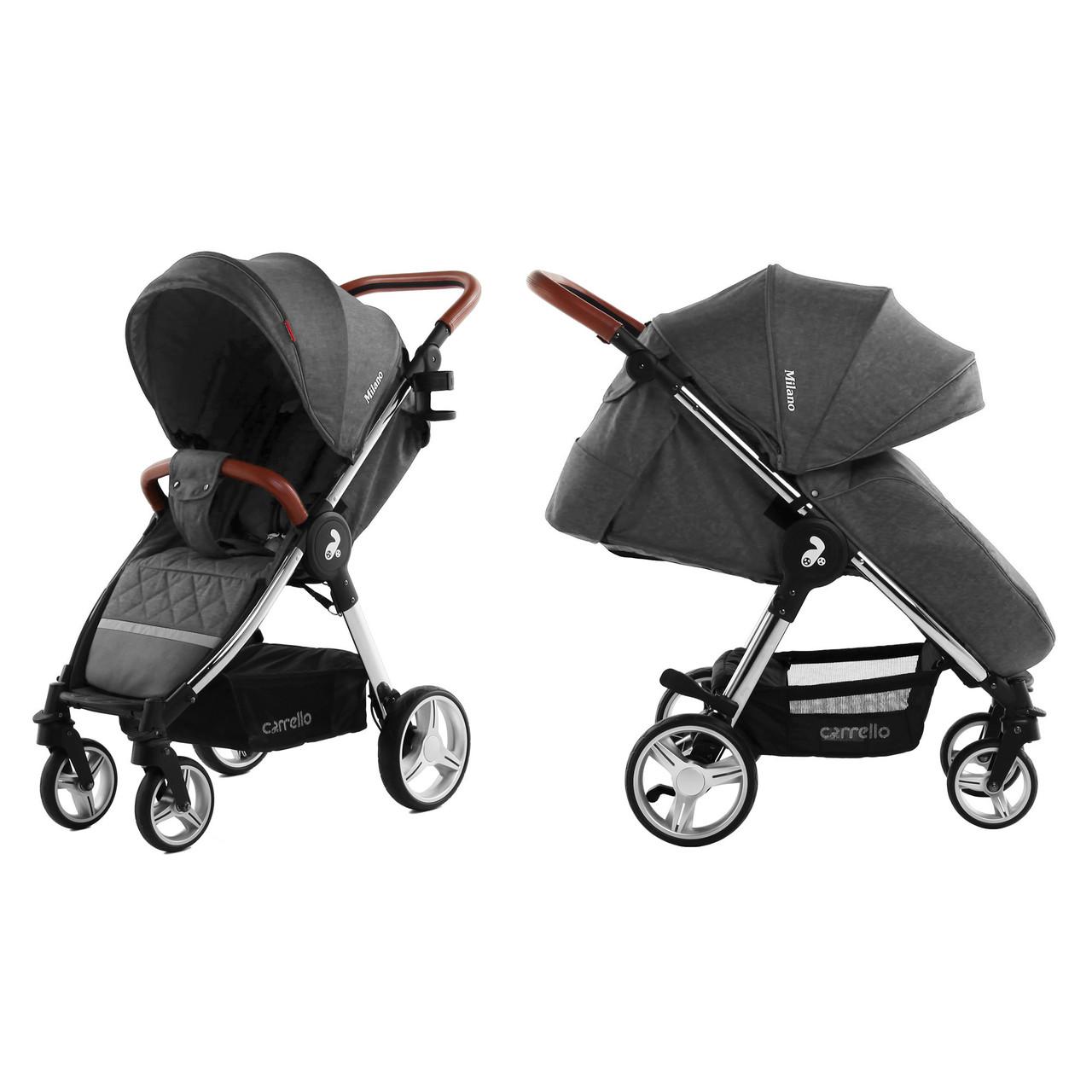 Коляска прогулочная CARRELLO Milano CRL-5501 Solid Grey Ухти-Тухти Кривой Рог