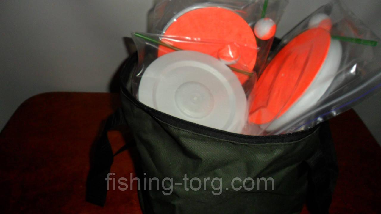 Набор жерлица 10 штук летняя НЕ оснащеннная диаметр 150мм в сумке
