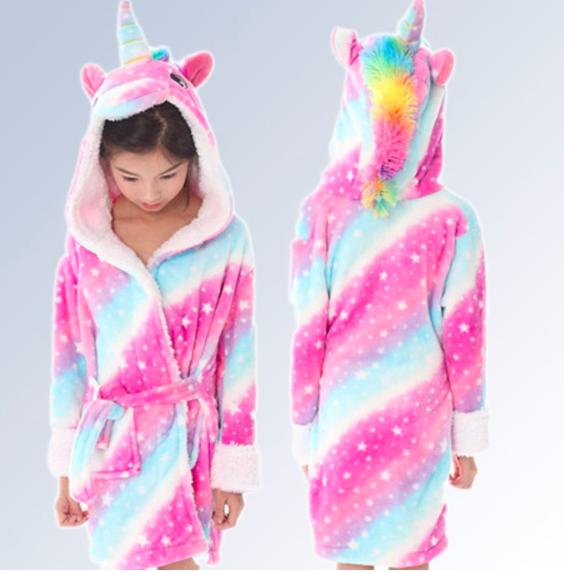 Халат для девочки детский единорог кигуруми 122 см