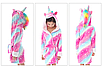 Халат для девочки детский единорог кигуруми 122 см, фото 2