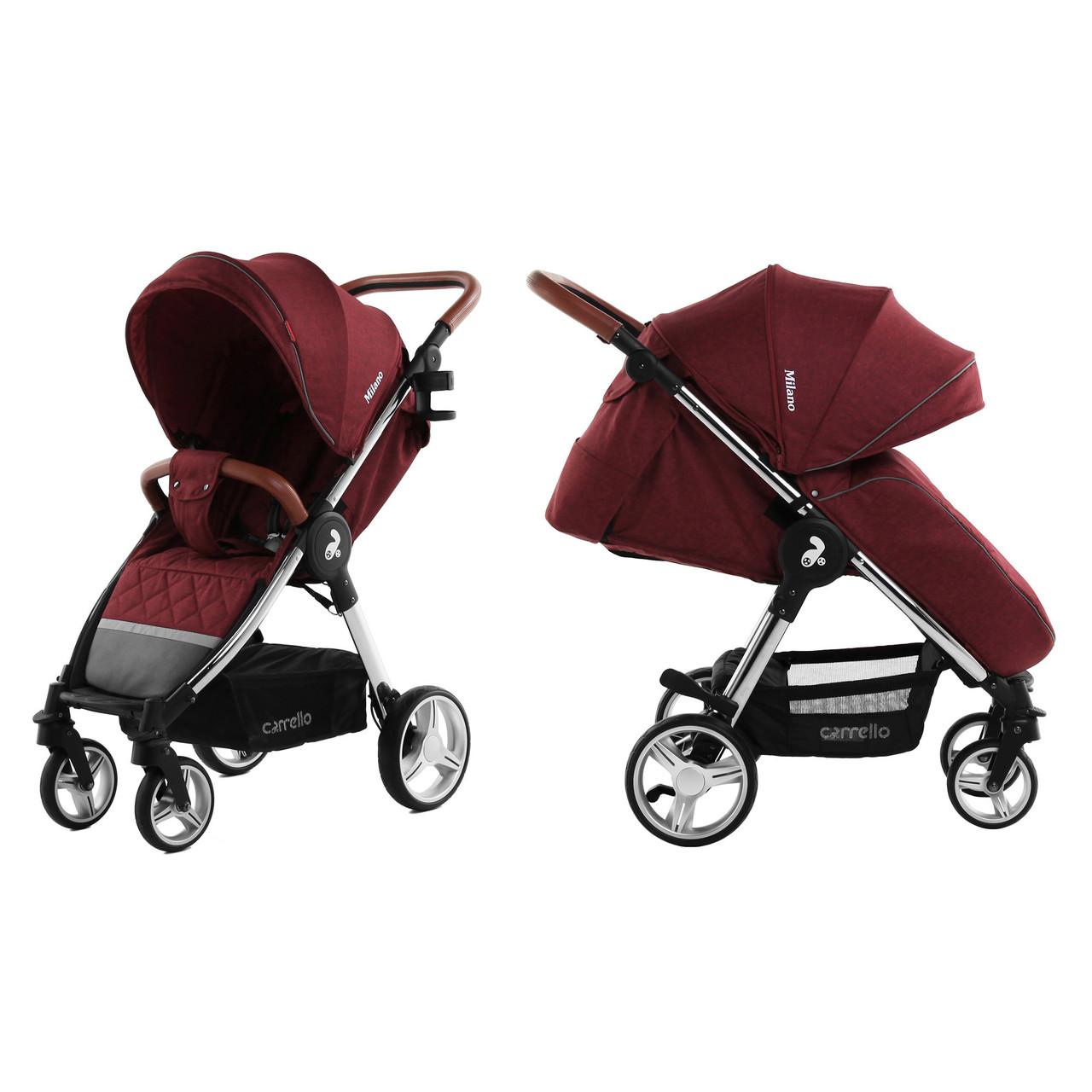 Коляска прогулочная CARRELLO Milano CRL-5501 Tango Red Ухти-Тухти Кривой Рог