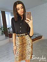 Юбка Карандаш с леопардовым принтом, фото 1
