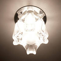 Точечный светильник Feron JD105 JCD9 прозр. золото, прозр. хром, матовый хром