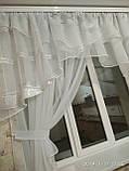 """Занавеска на кухню """"Милана"""" с одной шифоновой шторкой на карниз 2-2.5 м, фото 3"""